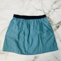 J. Crew  Stripe Market Skirt 100% Cotton Blue Teal Style# 41674 Size 10 ... - $11.84