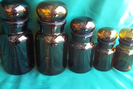 Vintage Amber Glass Apothecary Bottles - $49.99