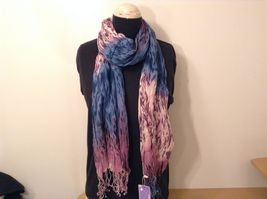New fashion scarf shibori water color style in choice of color scheme image 7