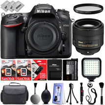 Nikon D7200 Digital SLR Camera w/ Nikon AF-S 85mm 1.8 Lens - 32GB - 30PC... - $1,309.00