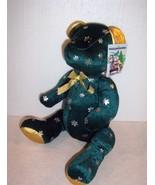"Cool Customers 15"" Christmas Snowflake green plush bear K & K Sales - NWT - $3.95"