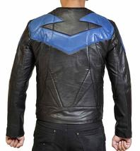 Ismahawk Night Wing Shepherd Grayson Knight Biker Costume Leather Jacket image 3