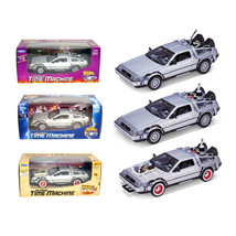 Collect All 3pc Set Delorean Time Machine Trilogy Set Back To The Future... - $80.33