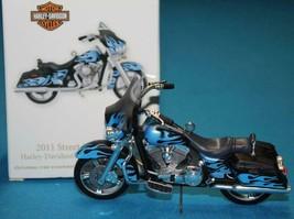 Hallmark Motorcycle Ornament Harley Davidson ~ Blue 2011 Street Glide FL... - $22.99
