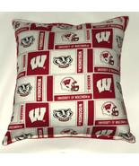 University Of Wisconsin Pillow Badgers HANDMADE In USA NCAA Pillow - $9.99