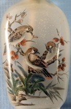 Vintage reverse glass painting snuff bottle with birds design circa 1950... - $34.96