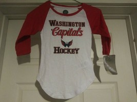 NHL Washington Capitals Hockey Youth GIRL'S Long Sleeve Shirt Size Small... - $12.53