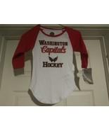NHL Washington Capitals Hockey Youth GIRL'S Long Sleeve Shirt Size Small... - $12.53