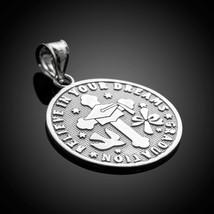 Sterling Silver Reversible Graduation Medallion Charm Pendant Necklace - $19.99+