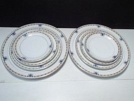 8 Noritake Beverly Fill In Plates ~ 2 each dinr, salad, side, saucer - $14.95