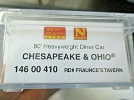 Micro-Trains # 14600410 Chesapeake & Ohio 80' Heavyweight Diner Car N-Scale image 6