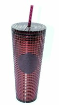 Starbucks Berry Plum Grid Disco Christmas Holiday 2020 Cold Cup Tumbler  - $39.99