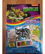 TEENAGE MUTANT NINJA TURTLES Magic Paint Posters Kit Posters Stickers Ta... - $14.69