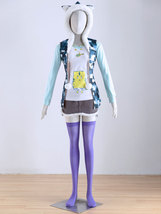 Daily Outdoor Super Sonico Anime Outfit Set Hoodie Cosplay Costume - $115.99+