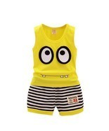 Two Set Cotton Clothes Sleeveless And Short For Toddler O Neck Cartoons ... - £10.15 GBP+