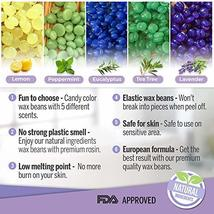 Hard Wax Beans Kit [6 Bags + Pre & After Spray] Hard Wax Beads Hair Removal - Wa image 5