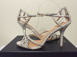 Badgley Mischka Kerrington Antique Silver Stingray Women's High Heels Sa... - $88.21