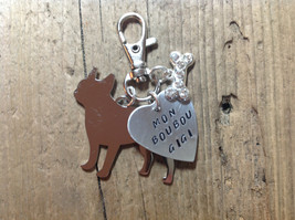 French Bulldog Custom Keychain Dog Lover Frenchie Mon Boubous - $23.00