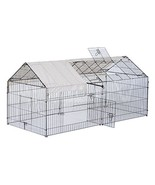 """PawHut 87"""" x 41"""" Galvanized Metal Outdoor Pet Enclosure Dog Kennel with ... - $112.82"""