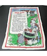 Vintage Linen Towel Irish Stew Recipe Anthropomorphic Vegetables Nelson ... - $18.32