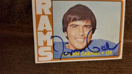 1972 Topps Signed Auto Card Roman Gabriel Rams Eagles North Carolina State # 40 - $14.84