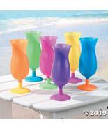 DistiKem(TM) Assorted Neon Hurricane Glasses (1 dz) - $20.61