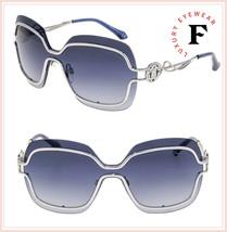 ROBERTO CAVALLI GIUNCUGNANO RC1066S Silver Blue Gradient Metal Sunglasses - $242.55