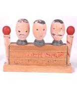 Vintage Barber Shop Quartet Corkscrew Bar Set Wood Bottle Opener-Distressed - $42.06