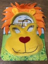 Yellow & Orange Eye Mask & Mane LION Headband zoo Safari costume masquerade - €8,34 EUR