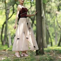 Handmade Champagne Tulle Skirt Outfit High Waisted Tulle Skirt Princess Skirt image 5