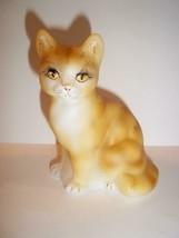 Fenton Glass Naural Orange Tabby Sitting Cat GSE Ltd Ed M Kibbe #7/17 - $174.12