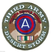"""THIRD ARMY DESERT STORM  RIBBON  4"""" EMBROIDERED MILITARY PATCH - $18.04"""