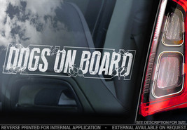 Dogs on Board - Car Window Sticker - Dog GSD Decal Warning in Transit Si... - $3.93