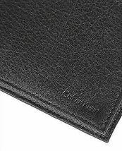 Calvin Klein Ck Men's Leather Bifold Id Wallet Key Chain Set Black 79080 image 6