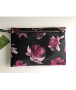 NWT Kate Spade Large Drewe Wilson Road Rose Symphony Black Pouch/Clutch ... - $40.49