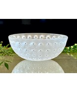 """Nemours 10"""" Bowl Frosted Crytal Mint Condition Signed Lalique France Bla... - $642.51"""