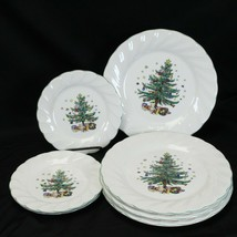 Nikko Happy Holidays Dinner and Salad Plates Lot of 7  - $58.79
