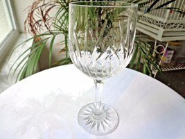 Bohemia Elise Pattern Crystal Stemware Water Goblet 7 Tall - $18.80