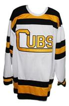 Custom Name # Boston Cubs Retro Hockey Jersey New White Any Size image 3