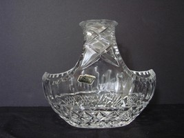 Vintage Large Violetta Hand Cut 24% Lead Crystal Basket - Made in Poland - $11.99