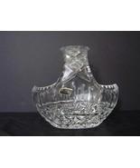 Vintage Large Violetta Hand Cut 24% Lead Crystal Basket - Made in Poland - $11.99