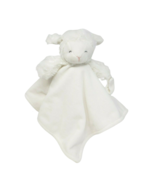 CARTER'S 2016 WHITE BABY LAMB SECURITY BLANKET PACIFIER HOLDER STUFFED P... - $36.47