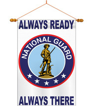 National Guard - Applique Decorative Wood Dowel with String House Flag S... - $53.97