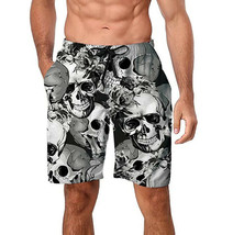 Freshhoodies Men's Board Shorts Quick Drying Swimwear Skull Beach Swim Trunks