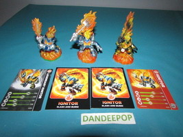 Skylanders Figures 3 Ignitor 1st, 2nd & Legendary W/ Cards Activision vi... - $17.32