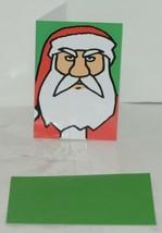 Hallmark ZX 103 3 Angry Santa Christmas Card Green Envelope Package 3 image 2