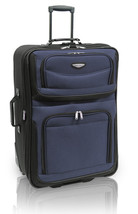 """Travel Select Blue Amsterdam 25"""" Expandable Rolling Luggage Suitcase Tra... - $49.49"""
