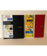 Five Star 1 Subject Spiral Notebook College Ruled 100 Sheets Lot of 2 Re... - $16.99