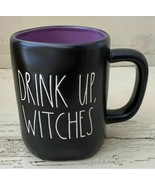 "Rae Dunn Artisan 2020 Black Halloween Mug ""DRINK UP WITCHES'"" New! RARE Purple - £25.34 GBP"