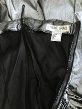 80s Etienne Brunel Paris Silver Metallic Lame Strapless Ruched Swing Party Dress image 10